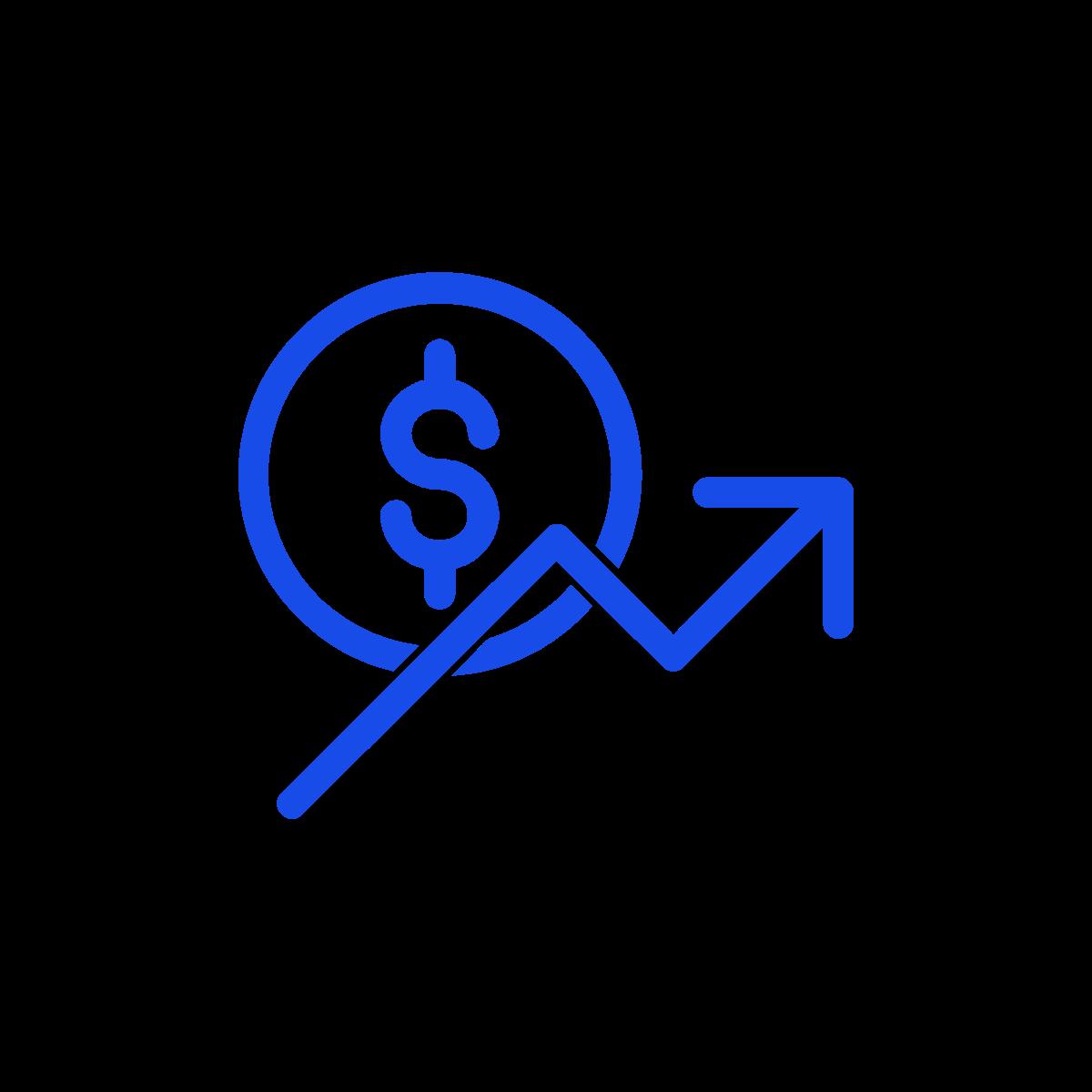 Increase revenue symbol